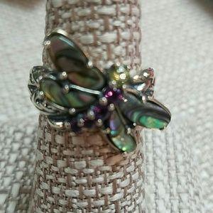 Carolyn Pollack Dragonfly Multi Gemstone Ring 7